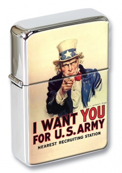 Uncle Sam Flip Top Lighter
