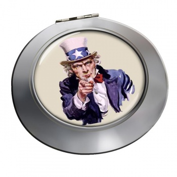 Uncle Sam Chrome Mirror