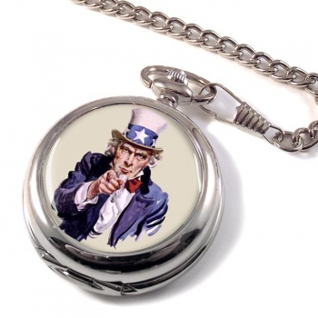 Uncle Sam Pocket Watch