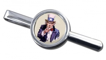 Uncle Sam Round Tie Clip
