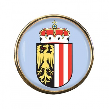 Upper Austria Oberosterreich Round Pin Badge