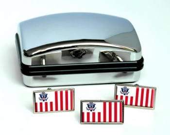 US Customs Rectangle Cufflink and Tie Pin Set