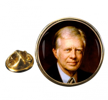 President Jimmy Carter Round Pin Badge