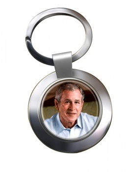 President George W. Bush Chrome Key Ring