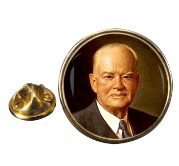 President Herbert Hoover Round Pin Badge