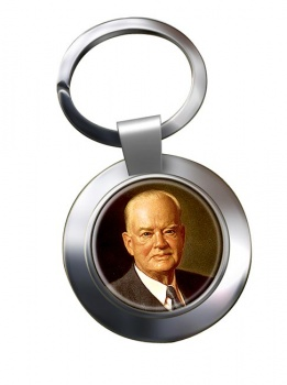 President Herbert Hoover Chrome Key Ring
