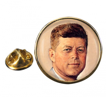 President John F. Kennedy Round Pin Badge