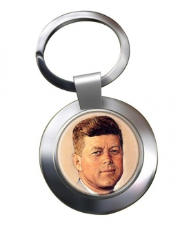 President John F. Kennedy Chrome Key Ring