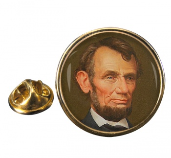 President Abraham Lincoln Round Pin Badge