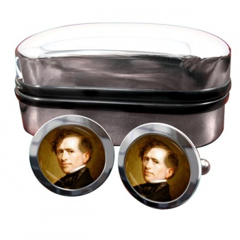 President Franklin Pierce Round Cufflinks