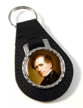 President Franklin Pierce Leather Key Fob