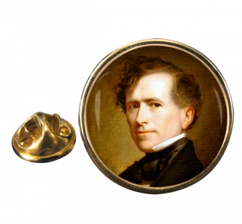 President Franklin Pierce Round Pin Badge