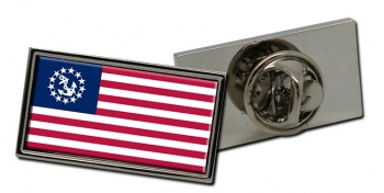 US Yacht Ensign Rectangle Tie Pin