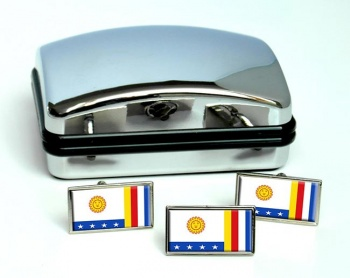 Vargas (Venezuela) Flag Cufflink and Tie Pin Set