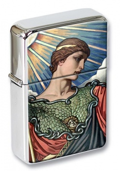 Head of Minerva by Elihu Vedder Flip Top Lighter