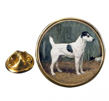 VENIO (A Fox Terrier) by John Emms Round Pin Badge