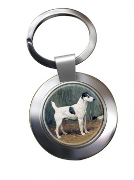 VENIO (A Fox Terrier) by John Emms Metal Key Ring