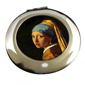 Girl with the Pearl Earring by Vermeer Round Mirror
