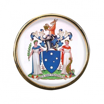 Victoria Australia Round Pin Badge