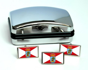 Vigo (Spain) Flag Cufflink and Tie Pin Set