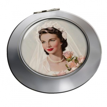 Vintage Bride Chrome Mirror