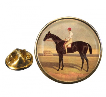 Racehorse Voltigeur by Herring Round Pin Badge