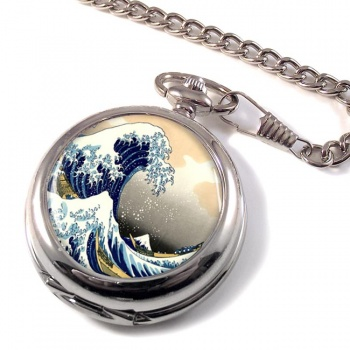 The Great Wave by Hokusai Pocket Watch