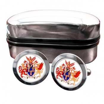 Worshipful Company of Chartered Accountants Round Cufflinks