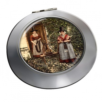 Welsh Costume Chrome Mirror