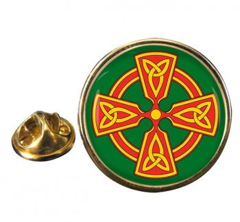 Welsh Celtic Cross Pin Badge