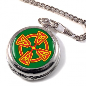 Welsh Celtic Cross Pocket Watch