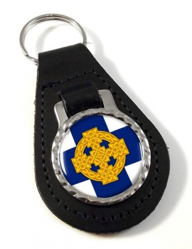 Church in Wales Leather Keyfob