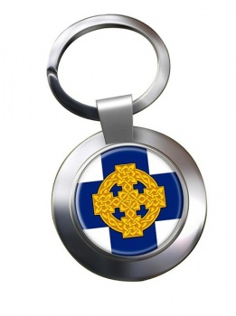 Church in Wales Leather Chrome Key Ring