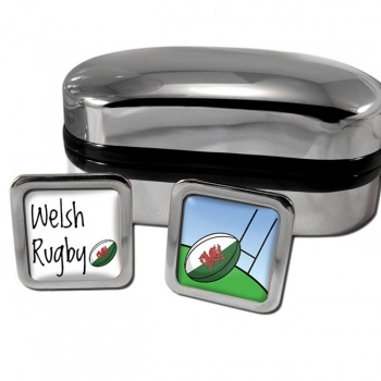 Welsh Rugby Square Cufflinks