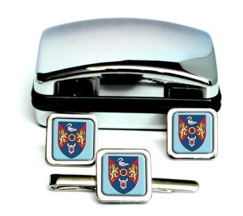 County Westmeath )Ireland) Square Cufflink and Tie Clip Set