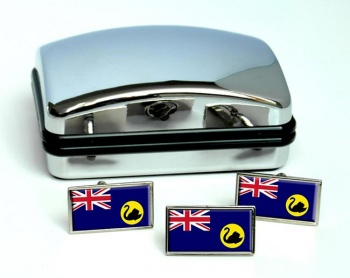 Western Australia Flag Cufflink and Tie Pin Set