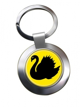 Western Australia Metal Key Ring