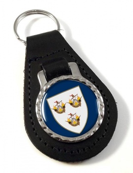 Wexford Town (Ireland) Leather Key Fob