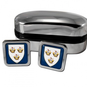 Wexford Town Ireland Square Cufflinks