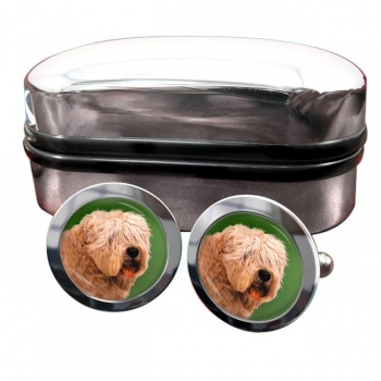 Wheaten Terrier  Round Cufflinks