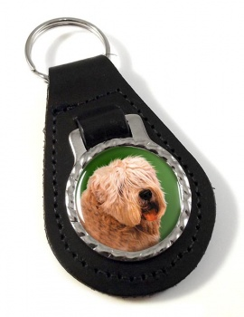 Wheaten Terrier Leather Key Fob