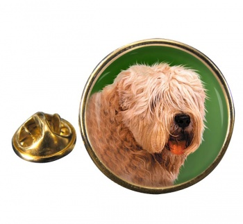 Wheaten Terrier Round Pin Badge