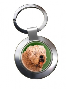 Wheaten Terrier Metal Key Ring