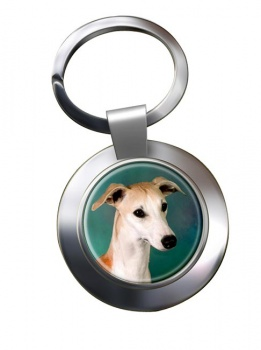 Whippet Metal Key Ring