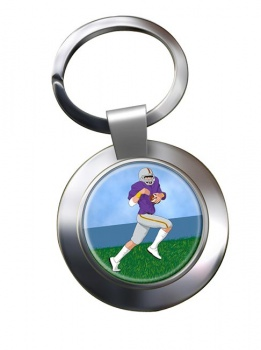 Wide Receiver Chrome Key Ring