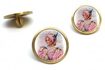 Rose Flower Girl by Wilhelm Golf Ball Marker Set