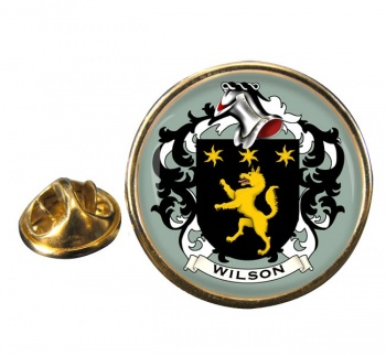 Wilson Coat of Arms Round Pin Badge
