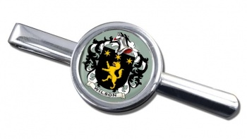 Wilson Coat of Arms Round Tie Clip