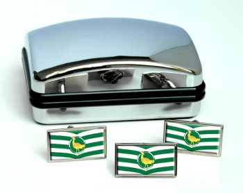 Wiltshire (England) Flag Cufflink and Tie Pin Set