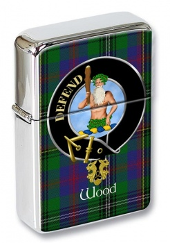 Wood Scottish Clan Flip Top Lighter